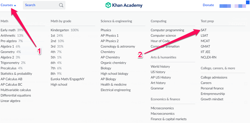 Where can I find the PSAT/SAT material? – Khan Academy Help