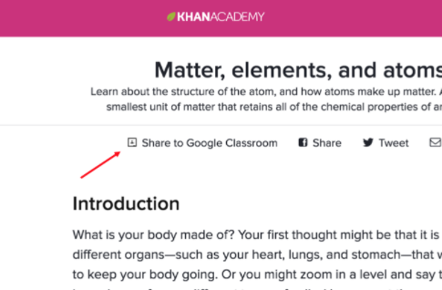 Update share khan academy content to your class using google to share find the share to google classroom button currently available for all video and articles on khan academy clicking on this button will prompt ccuart Image collections